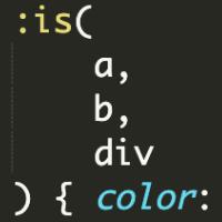 CSS pseudo třída :is()