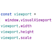 VisualViewport API