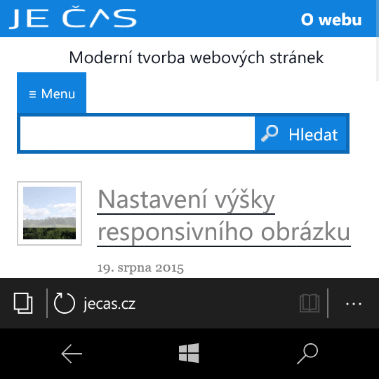 MS Edge mobile