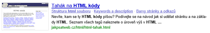Titulek a description v SERPu Google