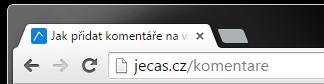 URL v adresním řádku
