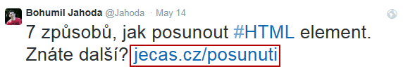URL v SERPu na Seznamu
