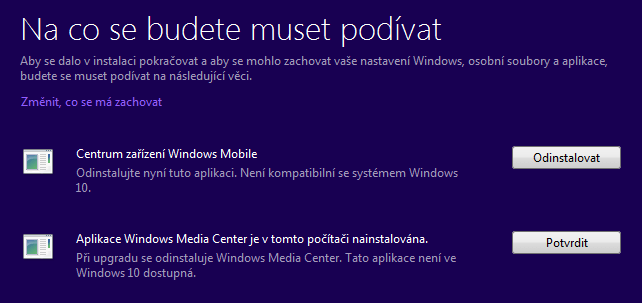 Co zachovat při upgradu Windows 10